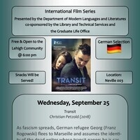 Modern Languages and Literatures International Film Series- German Selection