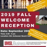 College of Business Admininistration Welcome Reception
