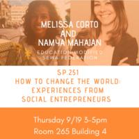 Social Entrepreneurship with Melissa Corto and Namya Mahajan