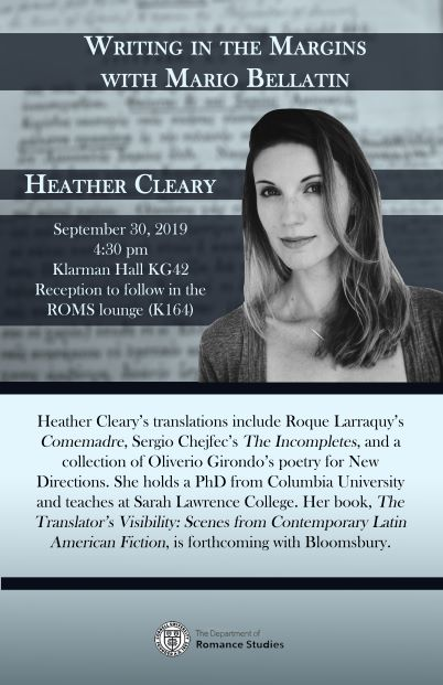 "Heather Cleary, ""Writing in the Margins with Mario Bellatin"""