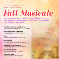Fall Musicale: UofL Strings