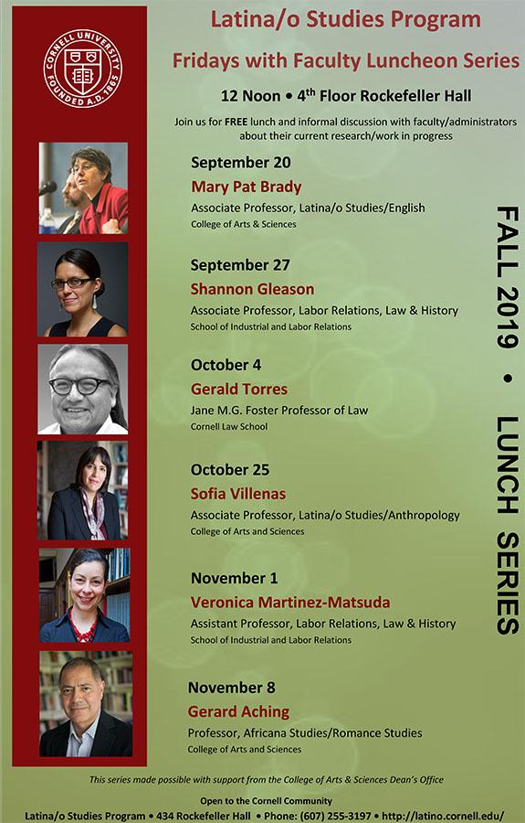 Latina/o Studies Fridays w/Faculty Seminar