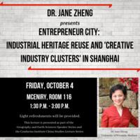 China Studies Lecture Series: Dr. Jane Zheng