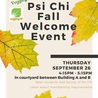 Psi Chi Fall Welcome Event