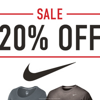 20% Off Nike Apparel