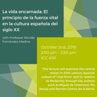 La vida encarnada: El principio de la fuerza vital en la cultura española del siglo XX