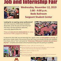 Job and Internship Fair - Students this one is for you!