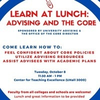 Learn at Lunch- Advising in the Core