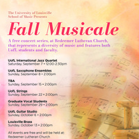 Fall Musicale: Graduate Vocal Students
