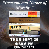 "Philosophy Club at UTEP: ""Instrumental Nature of Morality"""