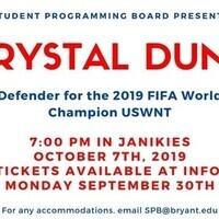 US Women's National Soccer Team player Crystal Dunn