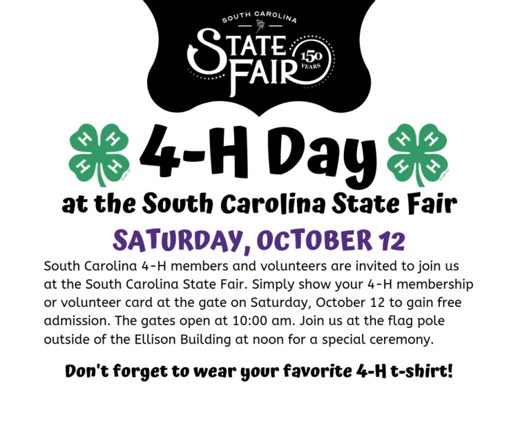 4-H Day at the SC State Fair