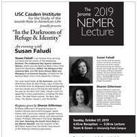 "The 2019 Jerome Nemer Lecture: ""In the Darkroom of Refuge & Identity"" with Susan Faludi (USC Casden Institute)"