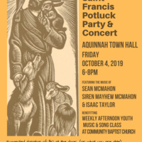 Feast of St. Francis Potluck Party & Concert