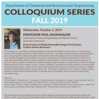 ChBE Seminar Series with Dr. Paul Dauenhauer