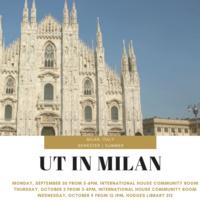 UT in Milan Information Session