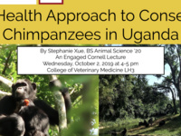 Public Lecture: One Health Approach to Conserving Chimpanzees in Uganda