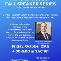 Honors Program Fall Speaker Series: Lance Pelletier