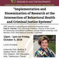Public lecture by Faye S. Taxman, PhD