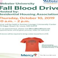 Webster University Fall Blood Drive