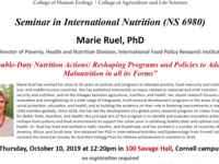 Double-Duty Nutrition Actions: Reshaping Programs and Policies to Address Malnutrition in all its Forms