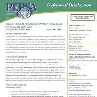PEPSA: Tips & Tricks for Improving Written Expression for Students with ASD