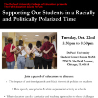 COE Forum: SUPPORTING OUR STUDENTS IN A RACIALLY AND POLITICALLY  POLARIZED TIME