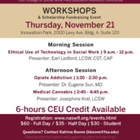 Workshops and Scholarship Fundraising Event