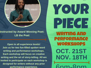 Speak Your Piece: Writing and Performance Workshop
