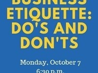 PRSSA Business Etiquette Do's and Don'ts
