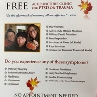 Acupuncture Clinic for PTSD or Trauma