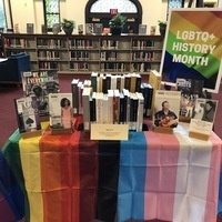 Book display for LGBTQ History Month