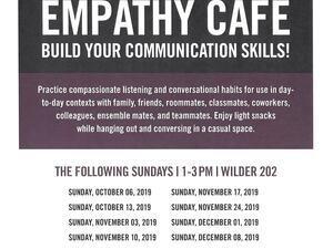 Flyer advertising Empathy Café