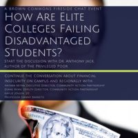 Fireside Chat--How are Elite Colleges Failing Disadvantaged Students?