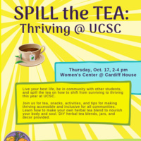 Spill the Tea: Thriving @ UCSC