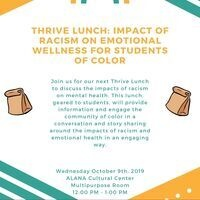 Thrive Lunch: Impact of Racism on Emotional Wellness for Students of Color