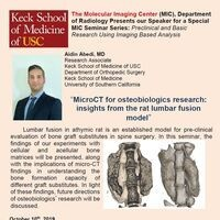The Molecular Imaging Center (MIC), Department of Radiology Presents our Speaker for a Special MIC Seminar Series:
