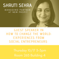 How to Change the World with Shruti Sehra at New Profit