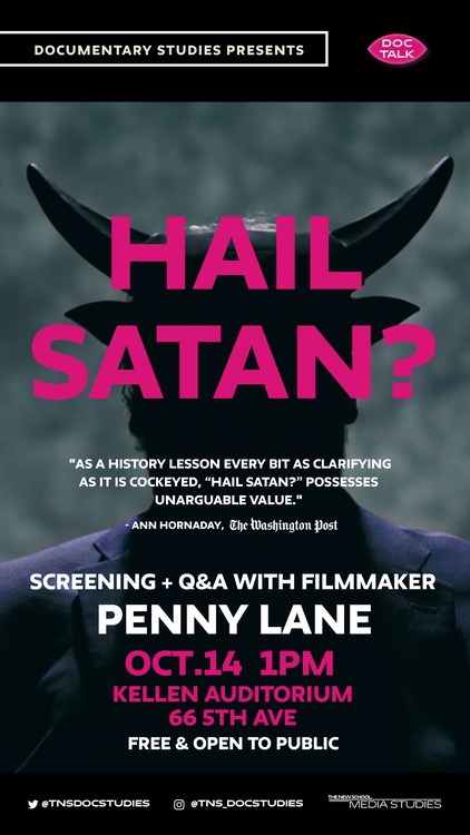 Doc Talk: Hail Satan? Screening and Q&A with artist and filmmaker Penny Lane