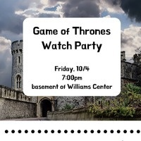 New Student Meet-ups: Game of Thrones Watch Party