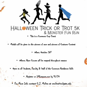 Commons Cup Halloween Trick or Trot 5k & Costume Contest Registration Deadline