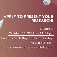 Deadline: Apply to present at Fall Research Day