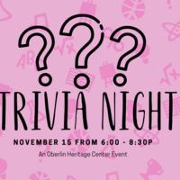 Oberlin Heritage Center Trivia Night