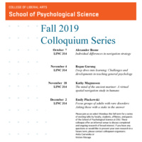 SPS 2019 Fall Colloquium - Regan Gurung, SPS Professor & Interim Director of the Center for Teaching and Learning