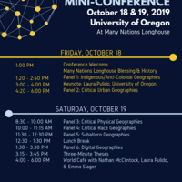 14th Annual Critical Geographies Mini-Conference