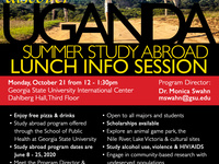 Uganda Summer Study Abroad - Lunch Info Session