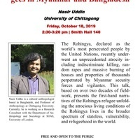 "Talk ""Subhuman"": The Rohingya Refu-gees in Myanmar & Bangladesh"