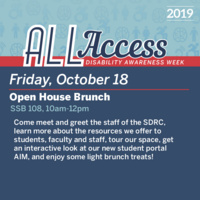 Disability Awareness Week: Open House Brunch
