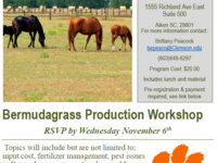 Bermudagrass Production Workshop