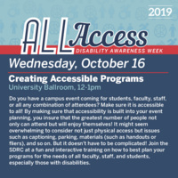 Disability Awareness Week: Creating Accessible Programs